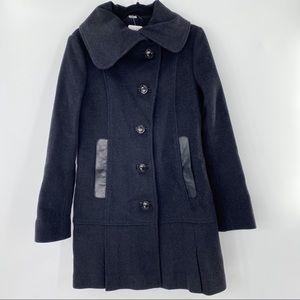 Mackage cashmere charcoal grey coat